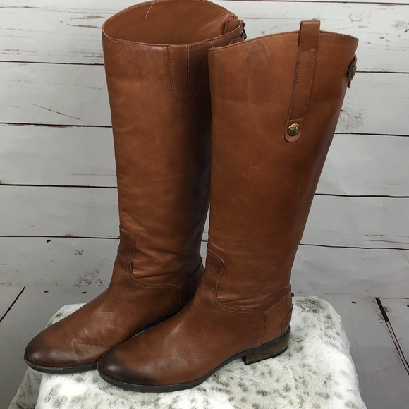 a283fb5f9dbcde Sam Edelman Shoes - Sam Edelman Brown Leather Penny Boots Size 7